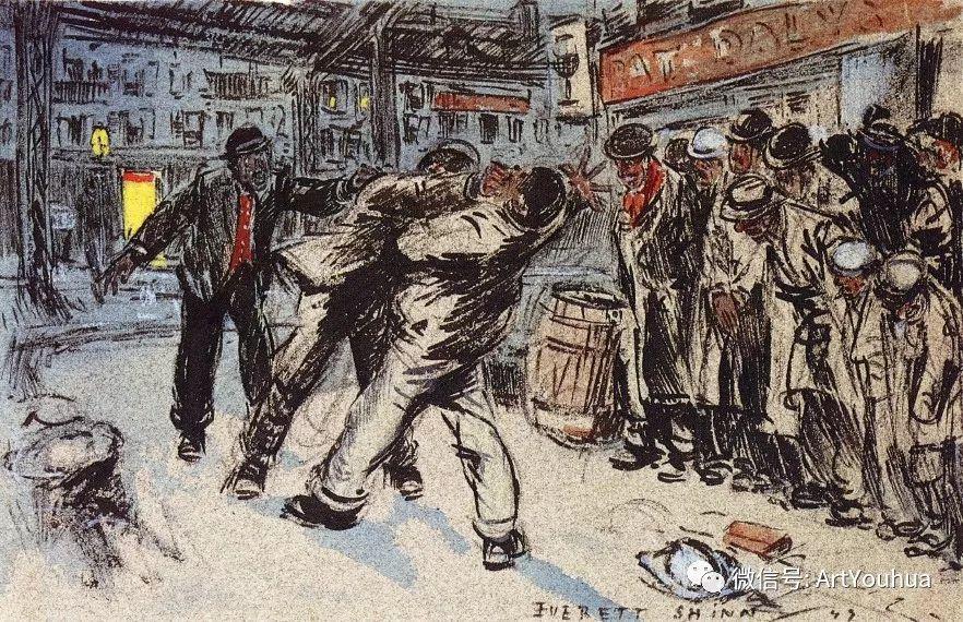 八人画派 美国画家Everett Shinn作品欣赏插图30