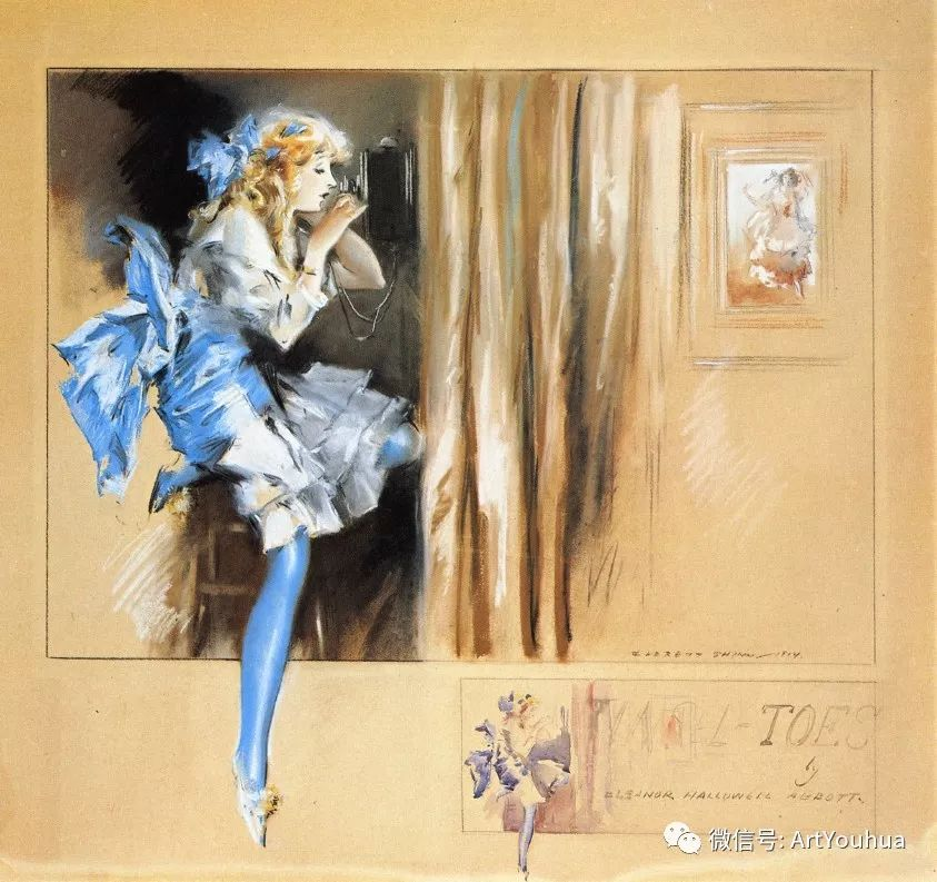 八人画派 美国画家Everett Shinn作品欣赏插图31