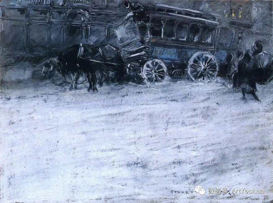 八人画派 美国画家Everett Shinn作品欣赏插图35