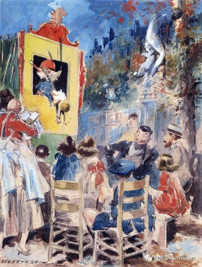 八人画派 美国画家Everett Shinn作品欣赏插图37