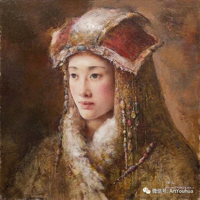 唐伟民少数民族肖像油画欣赏插图1
