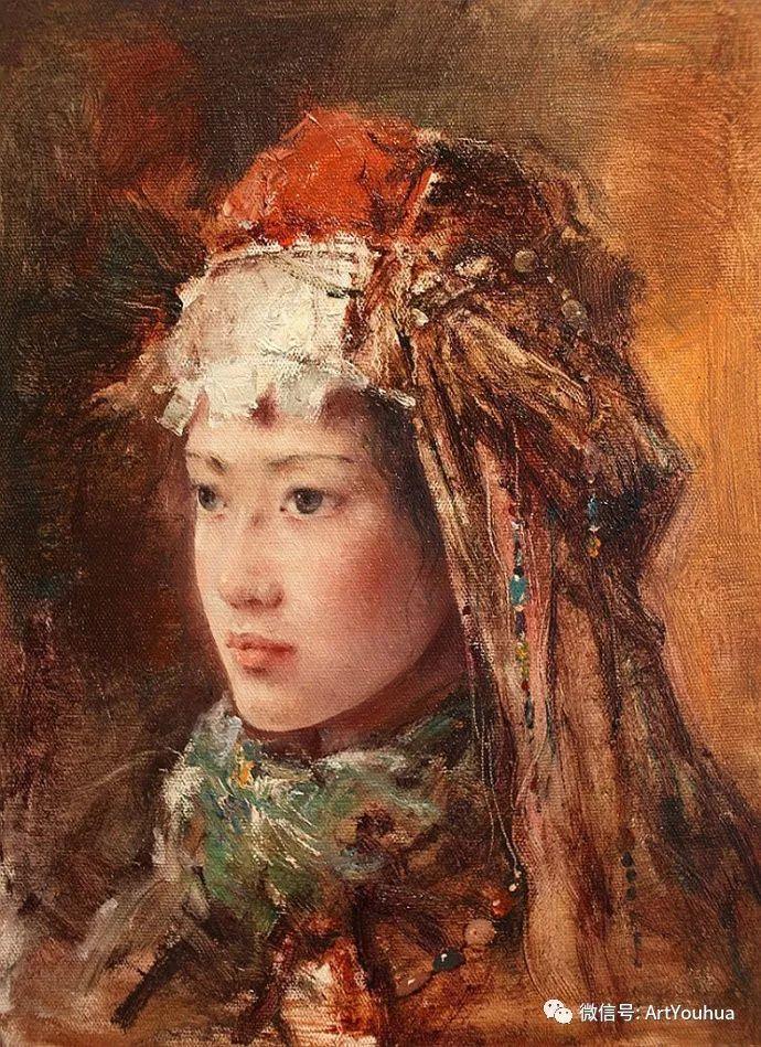 唐伟民少数民族肖像油画欣赏插图3