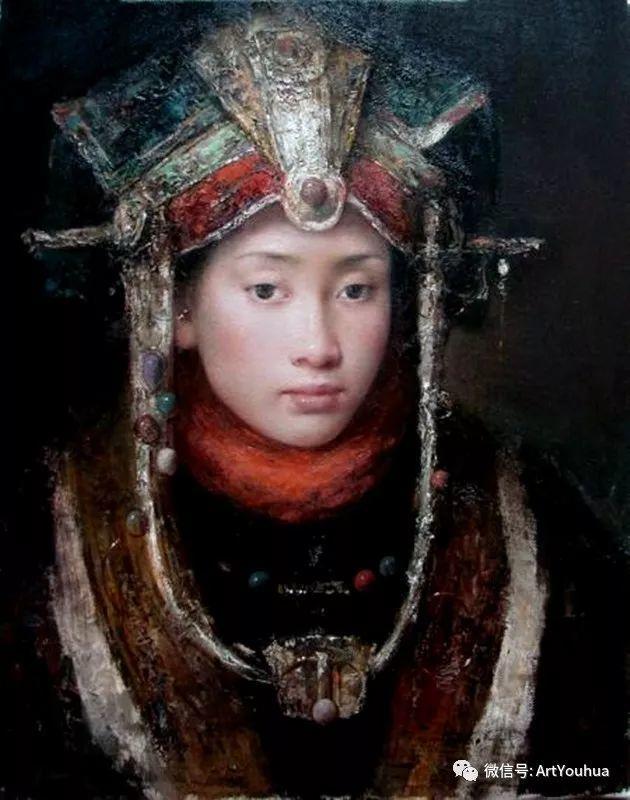 唐伟民少数民族肖像油画欣赏插图11