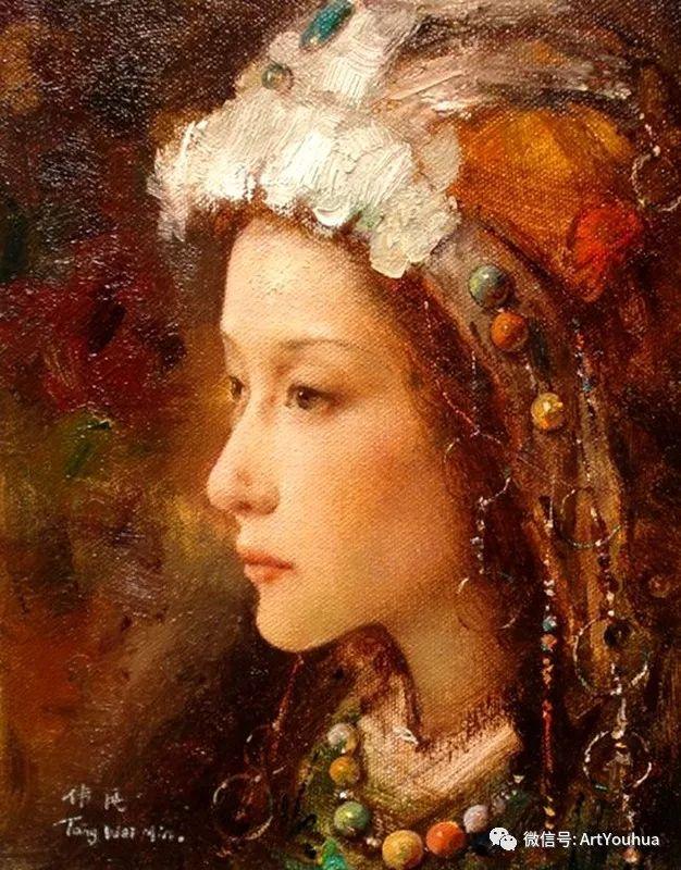 唐伟民少数民族肖像油画欣赏插图13