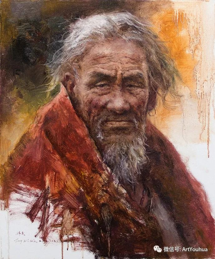 唐伟民少数民族肖像油画欣赏插图15