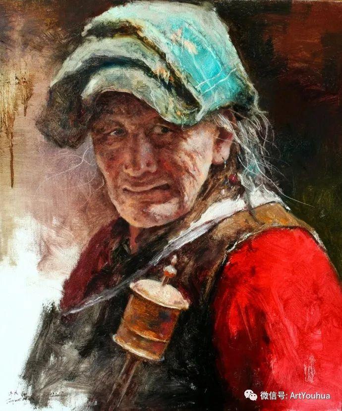 唐伟民少数民族肖像油画欣赏插图17