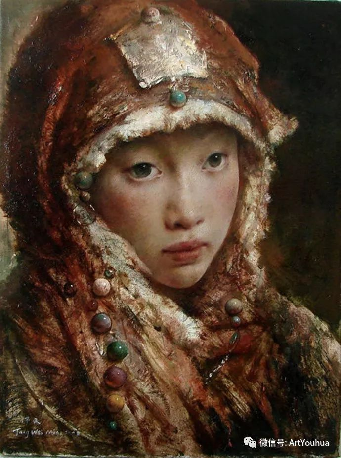 唐伟民少数民族肖像油画欣赏插图19