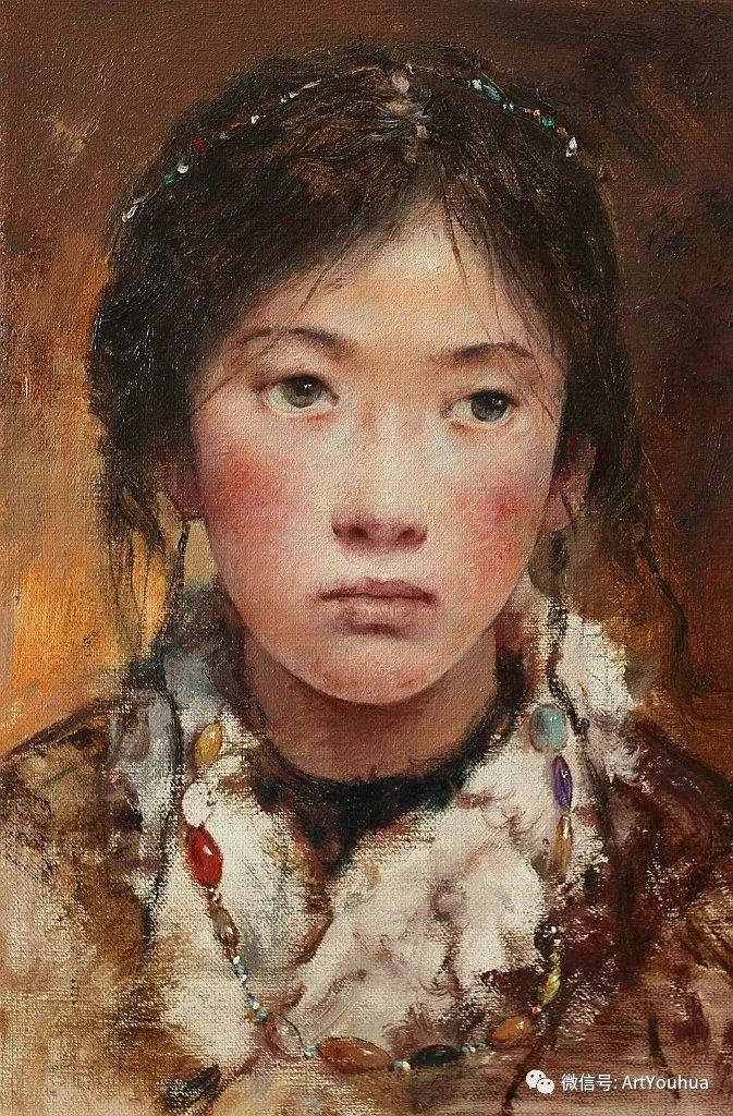 唐伟民少数民族肖像油画欣赏插图21