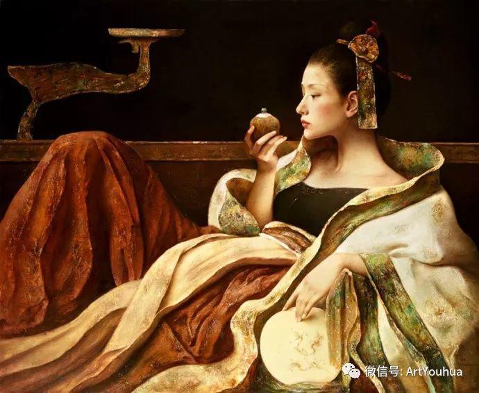 唐伟民少数民族肖像油画欣赏插图23