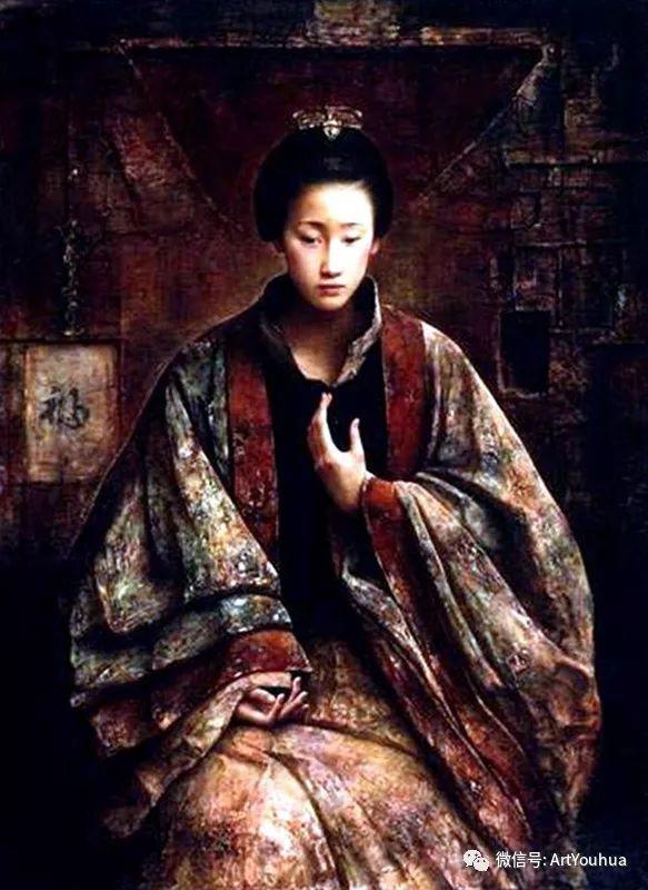 唐伟民少数民族肖像油画欣赏插图33
