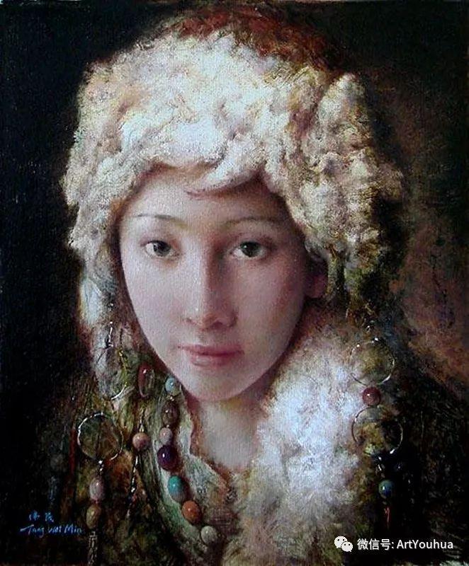 唐伟民少数民族肖像油画欣赏插图37
