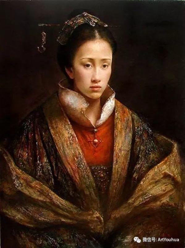 唐伟民少数民族肖像油画欣赏插图39
