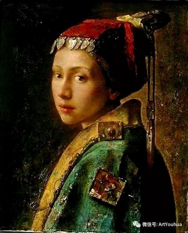 唐伟民少数民族肖像油画欣赏插图43