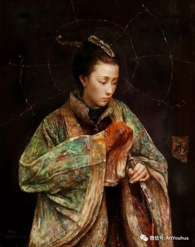 唐伟民少数民族肖像油画欣赏插图45