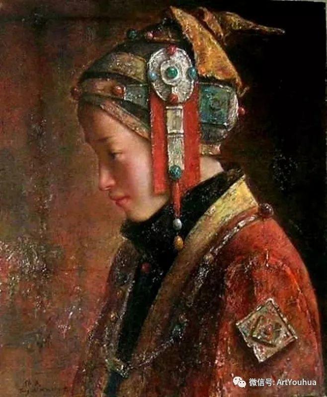 唐伟民少数民族肖像油画欣赏插图47