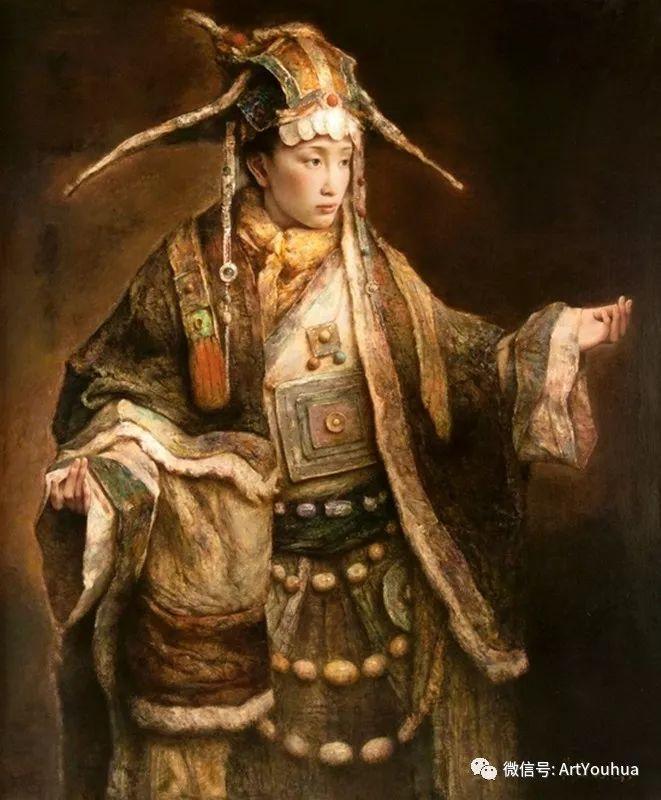 唐伟民少数民族肖像油画欣赏插图49