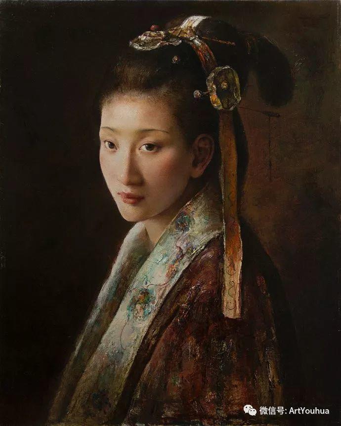 唐伟民少数民族肖像油画欣赏插图51