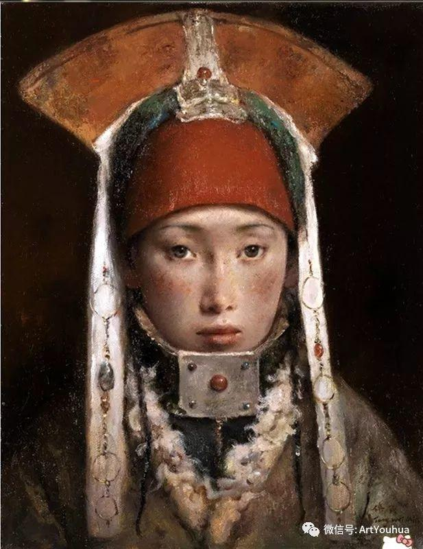 唐伟民少数民族肖像油画欣赏插图53