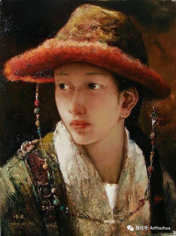 唐伟民少数民族肖像油画欣赏插图55