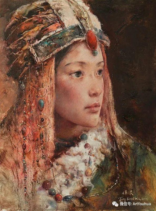 唐伟民少数民族肖像油画欣赏插图57