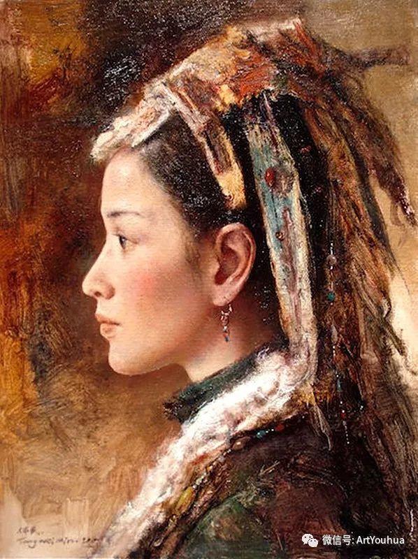 唐伟民少数民族肖像油画欣赏插图59