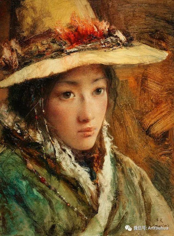 唐伟民少数民族肖像油画欣赏插图61