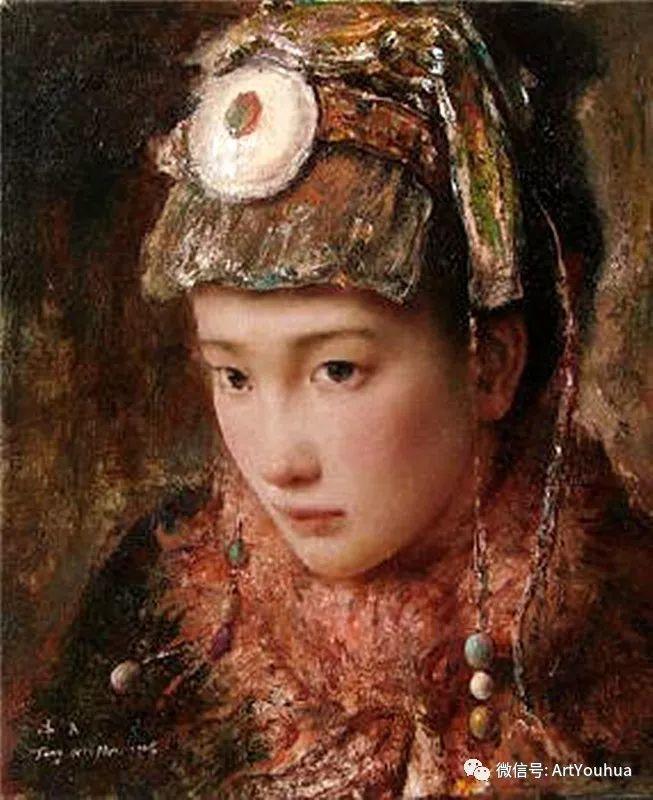 唐伟民少数民族肖像油画欣赏插图63