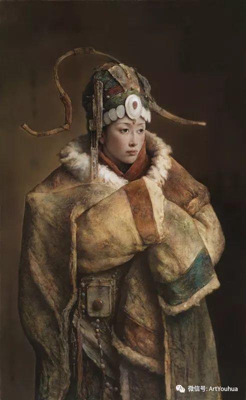 唐伟民少数民族肖像油画欣赏插图65