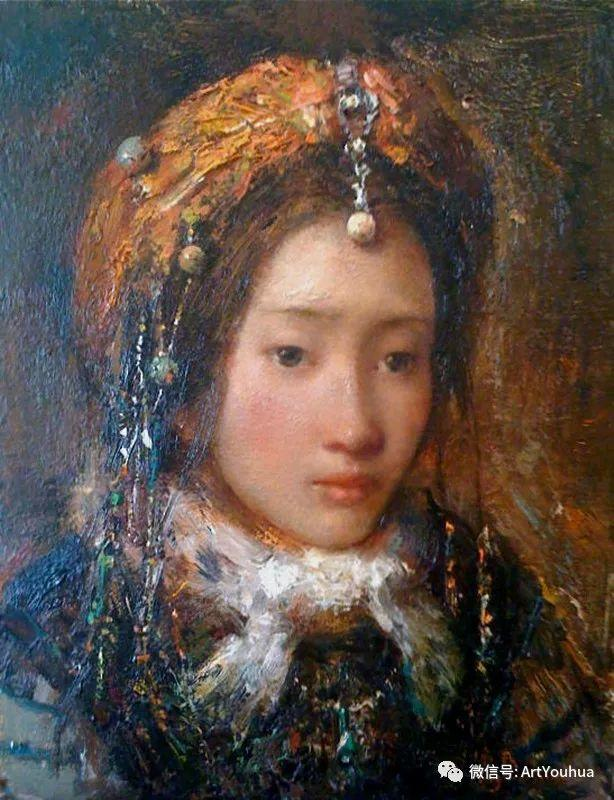 唐伟民少数民族肖像油画欣赏插图69