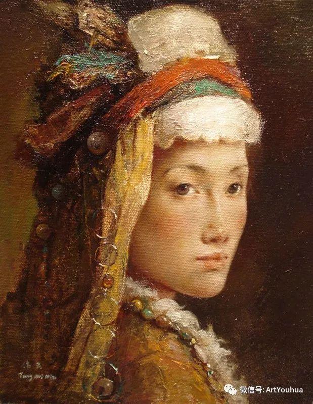 唐伟民少数民族肖像油画欣赏插图77