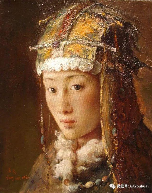 唐伟民少数民族肖像油画欣赏插图79