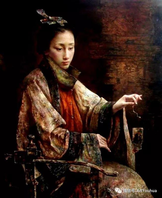 唐伟民少数民族肖像油画欣赏插图83