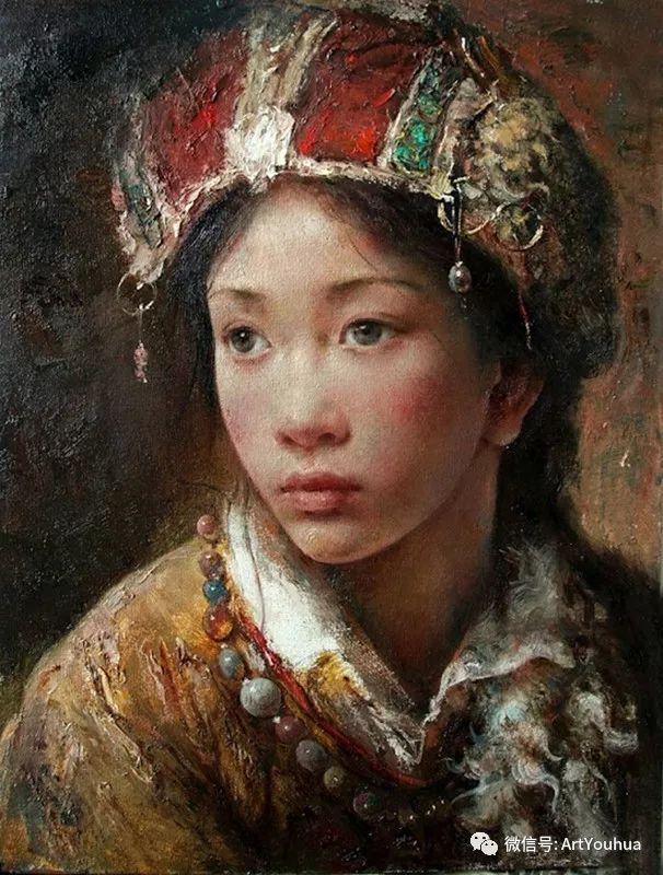 唐伟民少数民族肖像油画欣赏插图85