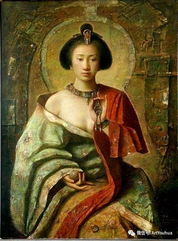 唐伟民少数民族肖像油画欣赏插图89