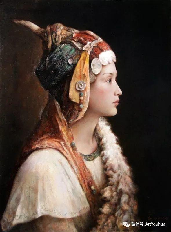 唐伟民少数民族肖像油画欣赏插图91