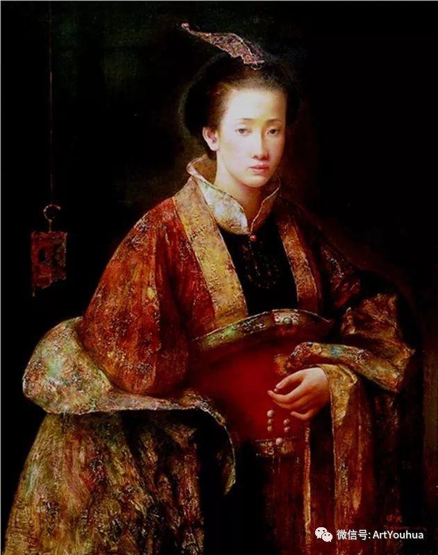 唐伟民少数民族肖像油画欣赏插图95