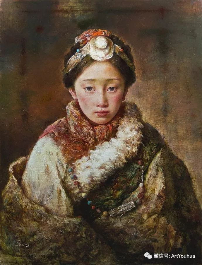 唐伟民少数民族肖像油画欣赏插图101
