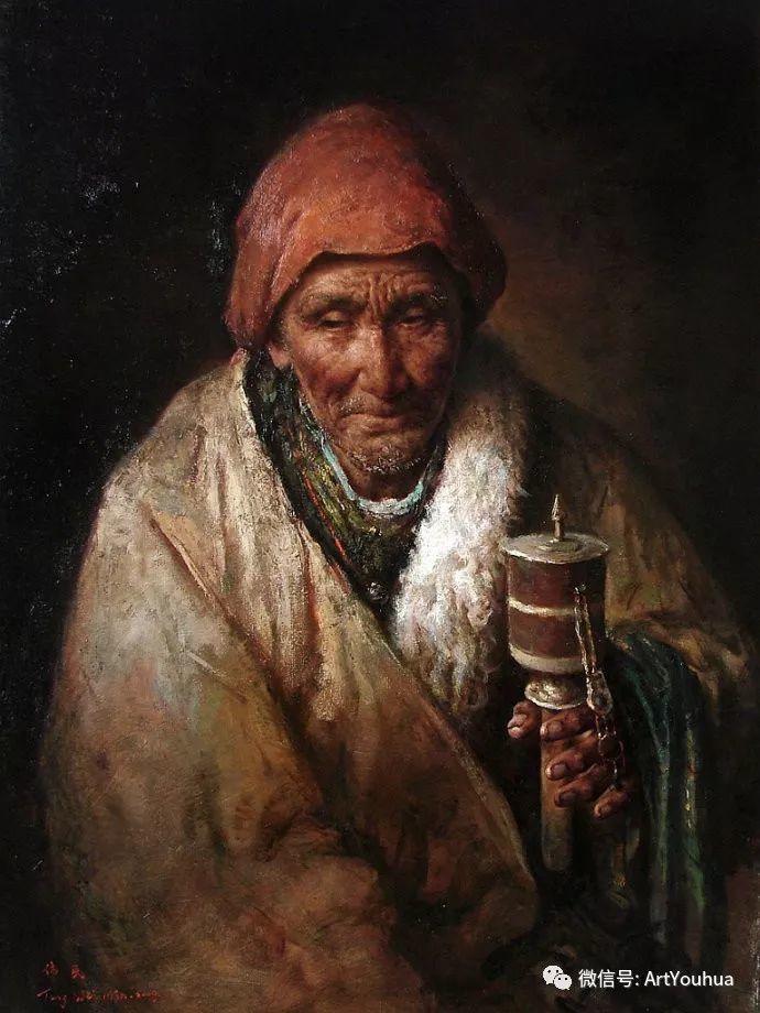 唐伟民少数民族肖像油画欣赏插图103