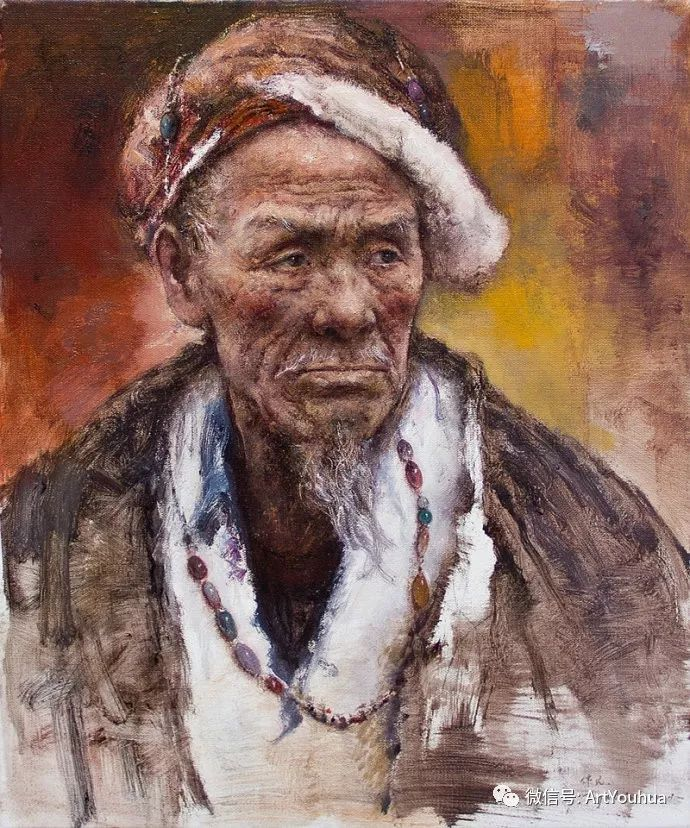 唐伟民少数民族肖像油画欣赏插图105