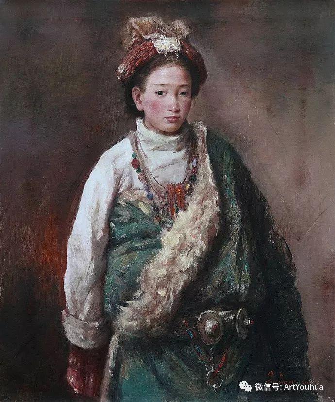 唐伟民少数民族肖像油画欣赏插图109