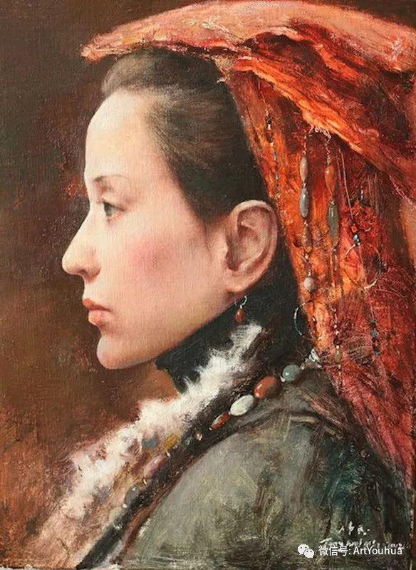 唐伟民少数民族肖像油画欣赏插图113