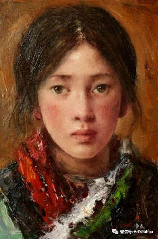 唐伟民少数民族肖像油画欣赏插图115