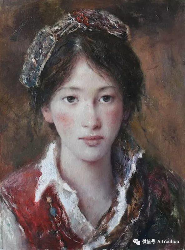 唐伟民少数民族肖像油画欣赏插图117