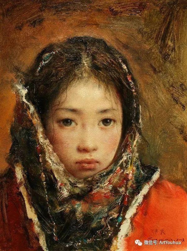 唐伟民少数民族肖像油画欣赏插图119