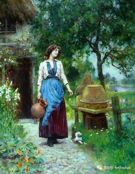唯美风景油画 英国印象派画家亨利·约翰·耶德金插图