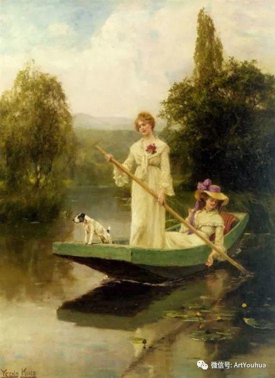 唯美风景油画 英国印象派画家亨利·约翰·耶德金插图1
