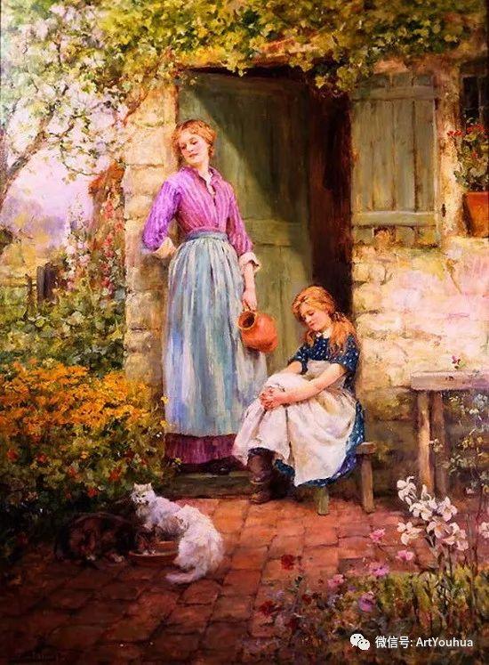 唯美风景油画 英国印象派画家亨利·约翰·耶德金插图2