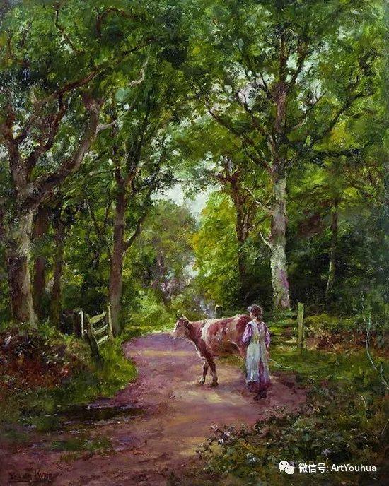 唯美风景油画 英国印象派画家亨利·约翰·耶德金插图3