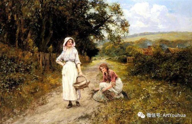唯美风景油画 英国印象派画家亨利·约翰·耶德金插图4