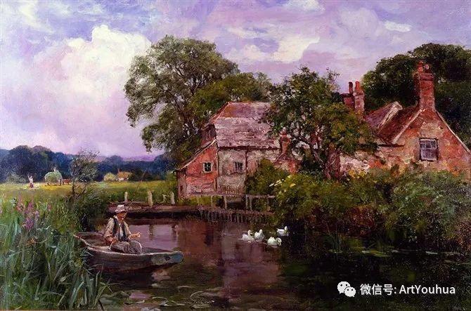 唯美风景油画 英国印象派画家亨利·约翰·耶德金插图5
